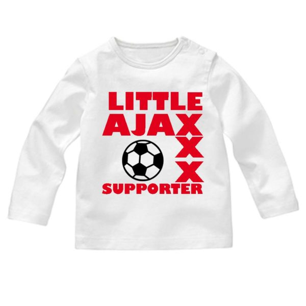 baby t-shirt little ajax supporter