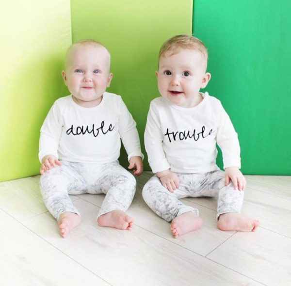baby t-shirt set double trouble