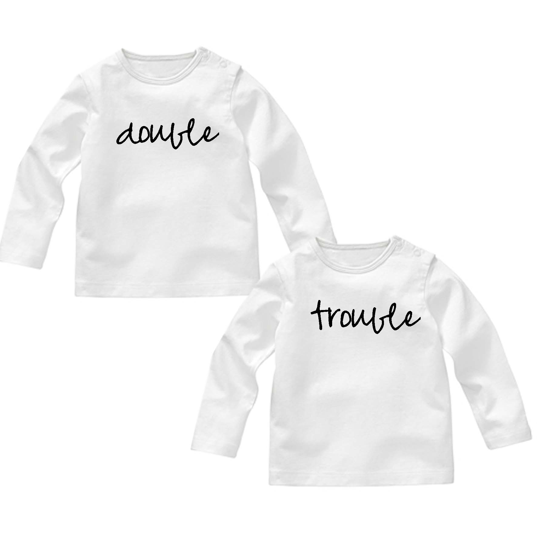 db214d76dbd Baby t-shirt set double trouble - Sweetest Design