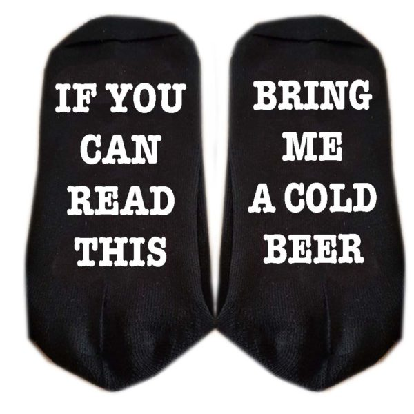 if you can read this bring me a cold beer sokken