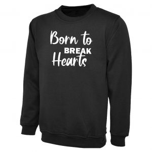 kids sweater born to break hearts